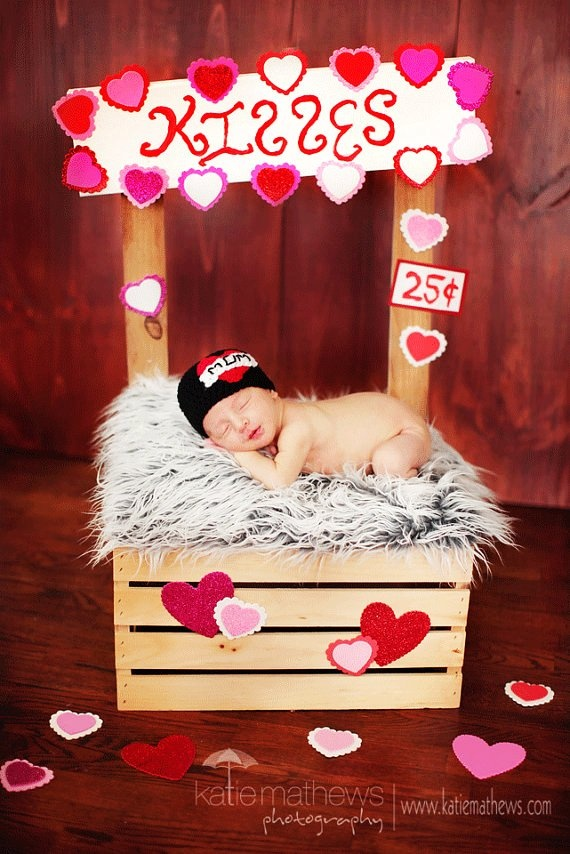 I heart mom tattoo newborn photography prop valentine crochet
