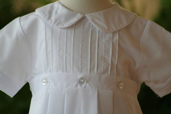 Petit Ami Boys Christening Gown Detachable Skirt And One Piece