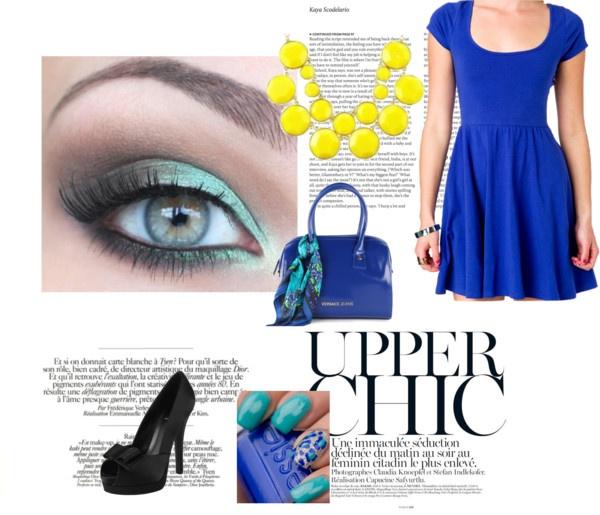 """""""Azul rey en vestido"""" by bellahermosacom on Polyvore"""