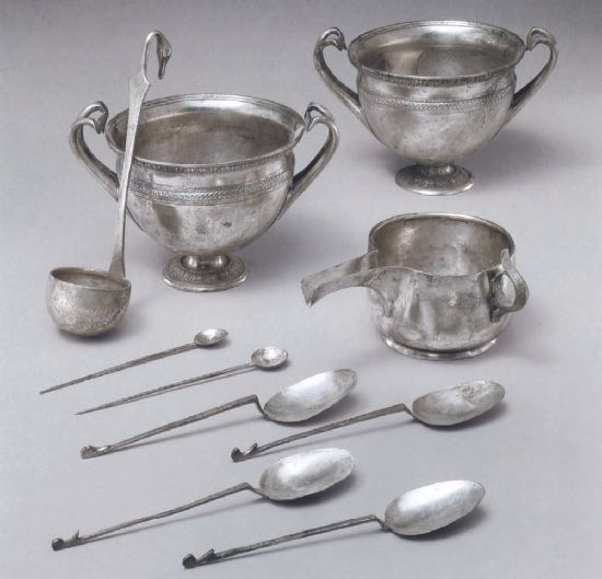 Set of silverware, Roman 1st century A.D.