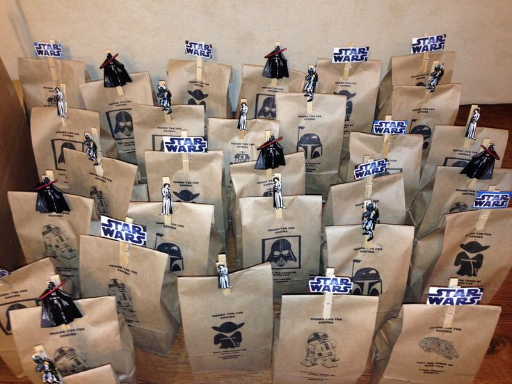 Star Wars printed goody bags