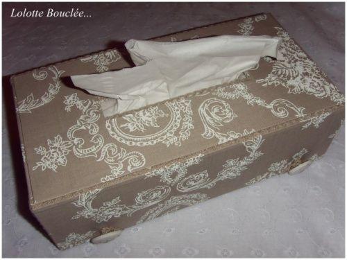 Boite a mouchoirs tuto sur le blog de Lolotte Bouclee | CRAFT