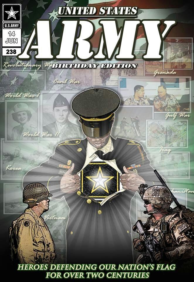 HAPPY BIRTHDAY ARMY Military heroes