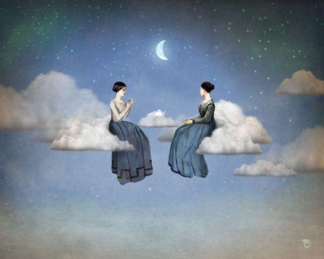 'Wind, Clouds and Tea' von Christian  Schloe bei artflakes.com als Poster oder Kunstdruck $20.79
