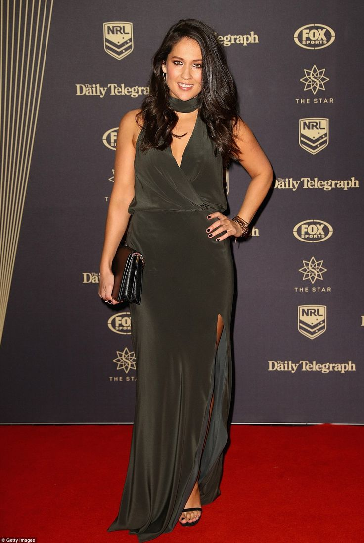 50 shades of grey! Channel Seven reporter Mel McLaughlin arrived in style, clad in a slink...