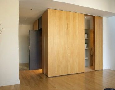 Elevator Wooden Cover, Hidden Wardrobe  Door leading into WC