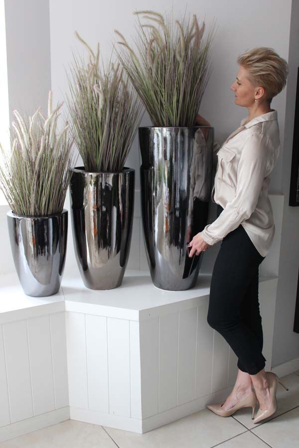 Sztuczne Trawy W Eleganckich Donicach Tendom Indoor Plants Landscape Elements Flower Pots