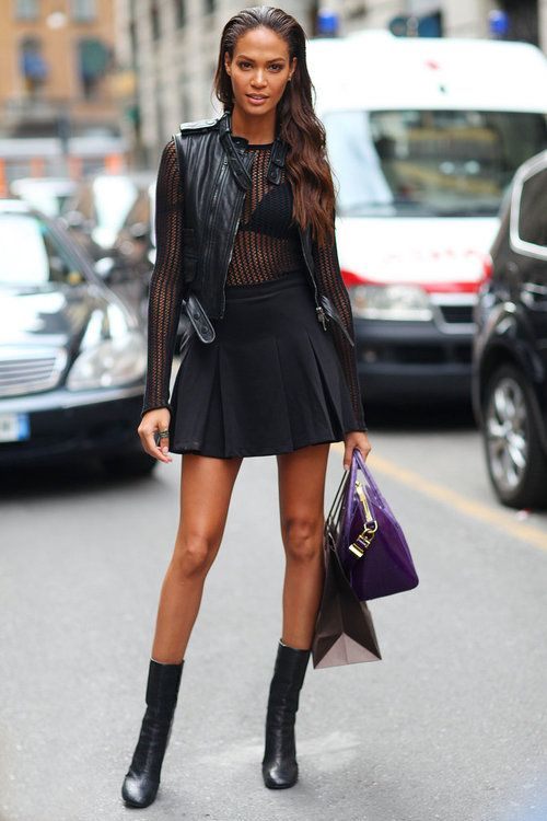 35-24-35: Paris Fashion, Black Outfits, Street Style, Milan Fashion Week, Woman Clothing, New York Fashion, Leather Jackets, Joan Small, Streetstyl