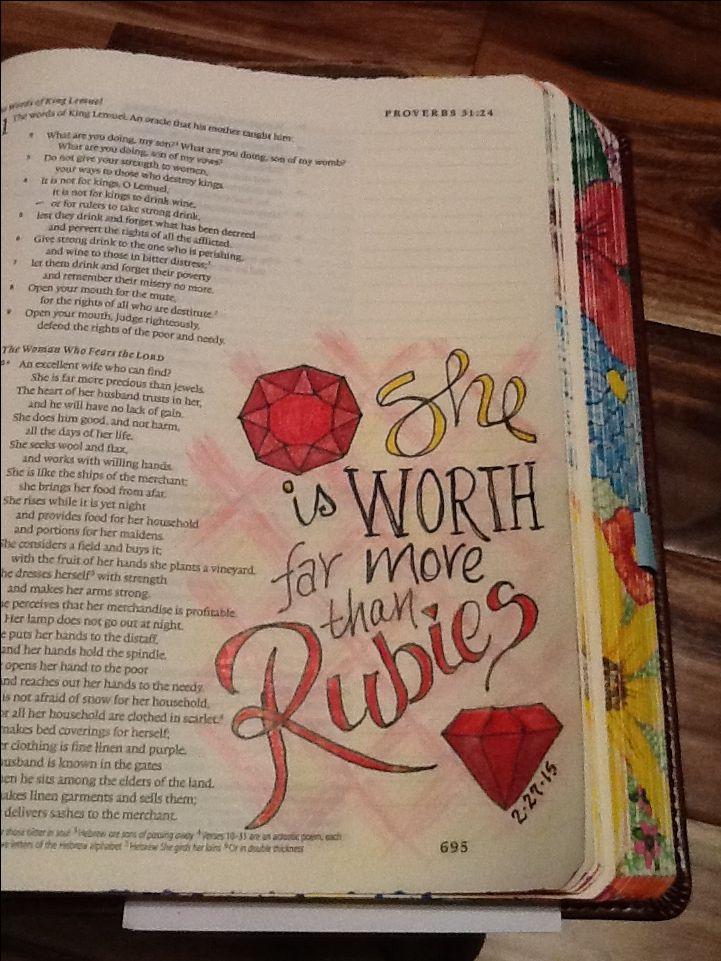 Proverbs 31:10. Sherrie Bronniman - Art Journaling: In My Bible