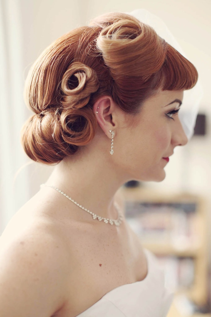 66 best vintage wedding hair images on pinterest | hairstyles