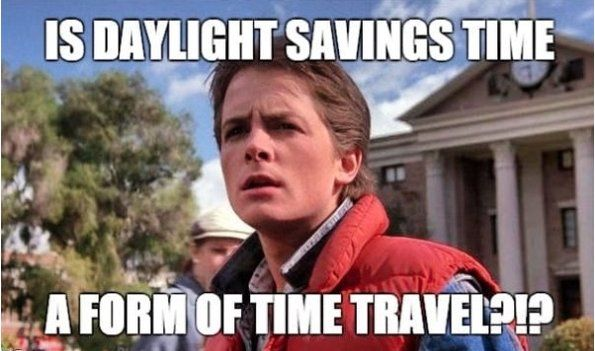 15 Daylight Savings Memes To Help You Spring Forward With A Few Laughs Hellogiggles Daylight Savings Time Future Memes Back To The Future