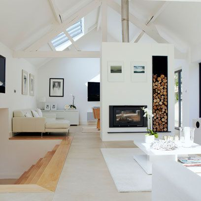 Narrative White Living Room: Interiors
