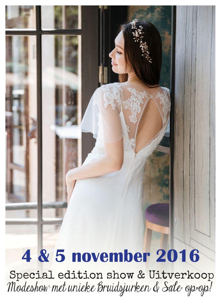 Modeshows bij Verliefd BruidsCouture te Kapelle 4&5 november 2016 - Meld je snel aan via onze website: www.verliefdbruidscouture.nl