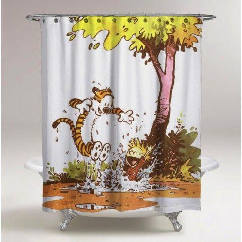 Calvin And Hobbes Best Design Custom Shower Curtain