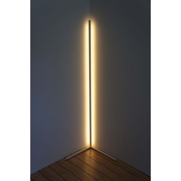 A simple standing frame could easily turn your light strip into an on trend seam light... and then it could be moved from room to room as you like!