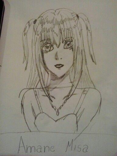 Saját rajz !!!!! *Vivien W Virág* /Amane Misa a Death Note animeből /