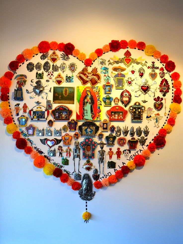Wall of Mexican folk art... in Australia!! Milagros: a marvellous event manifesting a supernatural act of a divine agent; causes feelings of wonder