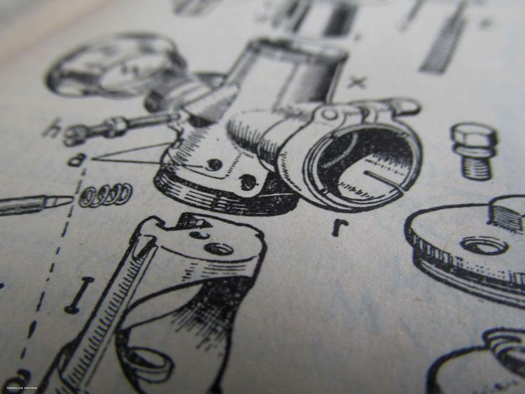 Libro Arias paz. dibujo en Explosión del carburador.