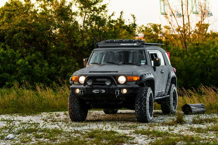 2007 Toyota FJ Cruiser - Modified 4x4 LineX ARB ExpeditionOne Expedition Overland Overlanding Offroad Olive Drab Green BajaRack Travel GoodYear AllPro Fox FoxRacing Lifted Winch Engo PIAA FJC FJCruiser Ricochet