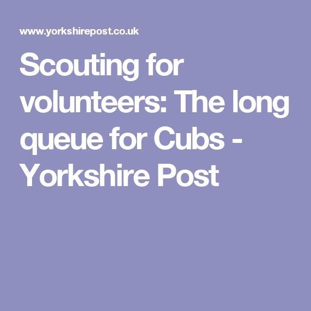 Scouting for volunteers: The long queue for Cubs - Yorkshire Post