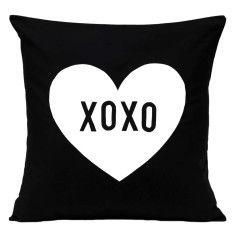 XOXO love heart handmade cushion cover
