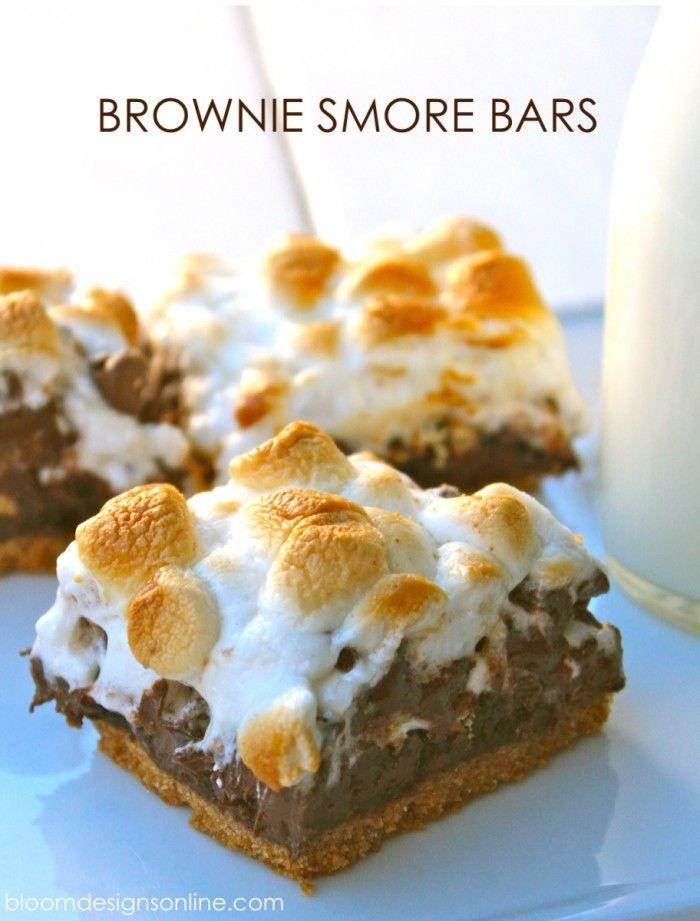 Brownie smore  39 s bars  yum