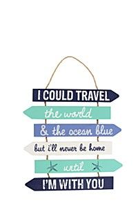 I COULD TRAVEL THE WORLD HANGING WALL PLAQUE