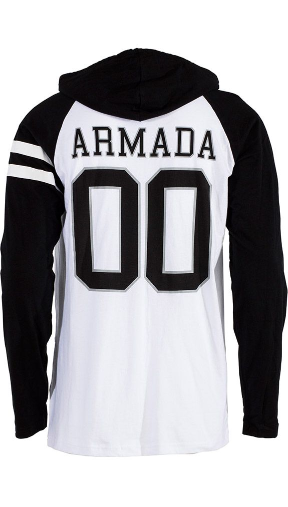 JV Hoody Tee - White. Made with 100% cotton, the intrinsic pullover hoody is perfect for fall temps, late nights around the campfire, or hanging out after skiing. | ARMADA