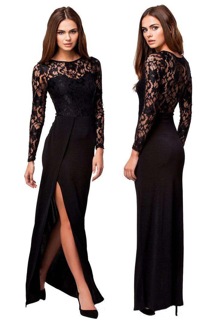 Rochita Younes - Rochia de seara lunga Younes reprezinta eleganta suprema. Este un obiect vestimentar ce imbina design-ul modern cu materiale clasice, precum dantela. Zona superioara este croita din dantela, in timp ce fusta lunga este realizata dintr-un material ce cade lin pe corp. Rochia de culoare neagra, nuanta clasica pentru obiectele vestimentare elegante, te va face sa te simti si sexy datorita taieturii ce se intinde pe laterala.<br /> Material: polyester   spandex Colectia Rochii…
