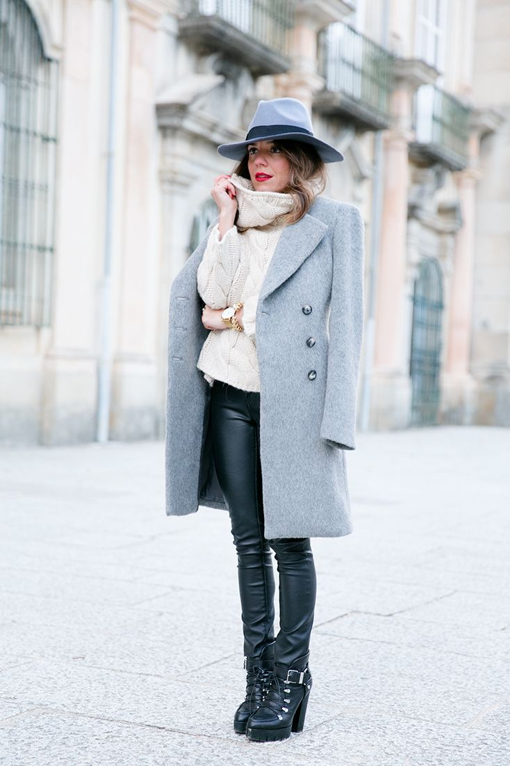 Coat: Benetton (aw14), Jersey/Knit: Benetton (aw14), Pantalones/Pants: Free People (old), Botines/Booties: Zara (aw14), Sombrero/Hat: Lack of Color (aw14)