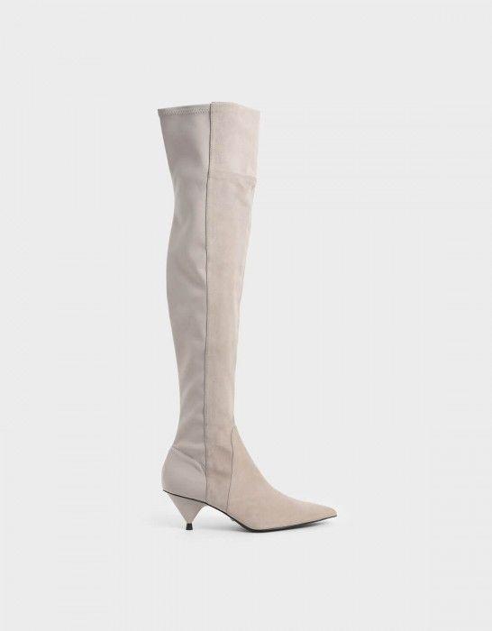 Kid Suede Thigh High Boots – Felecia Shoe Addiction