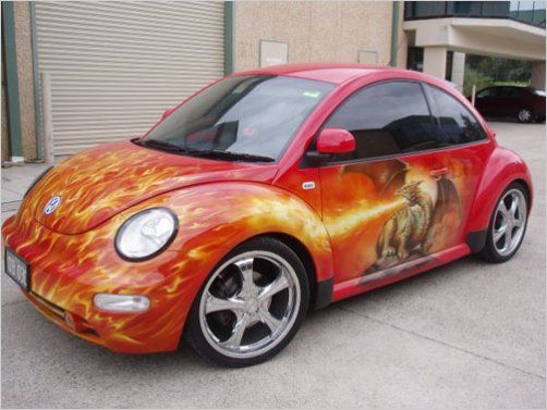 vw beetle with art - Bing Images