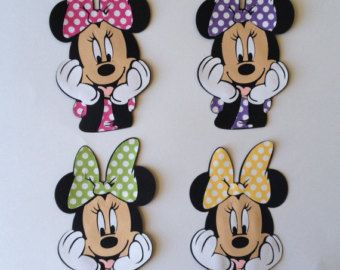 You will receive Mickey Mouse & Minnie Mouse in 6 or 11 die cut ready as shown in picture. Its great for party centerpiece or decoration.  Made of acid free card stock.  Contact me for any special requests!  PROCESSING TIME: please see my shop message below my banner. SHIPPING: 4-5 business days by first class mail with tracking number.