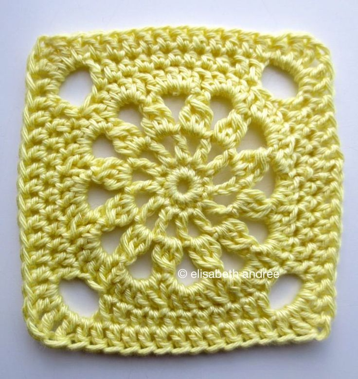 What a BeAuTiFuL Crochet Square!