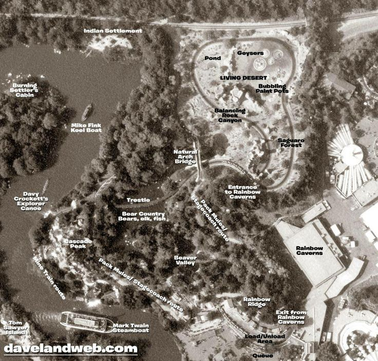 Aerial Map of Natureu0027s Wonderland Attraction at