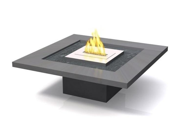 contemporary garden coffee table (with bio ethanol burner) OUTDOOR: 918 Vulcania
