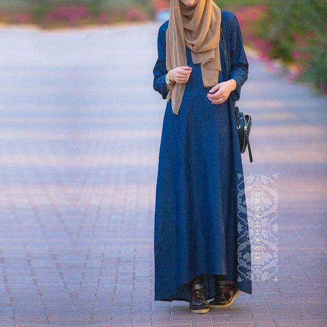 Annah Hariri @hanna_anna Jeans abaya from ...Instagram photo | Websta (Webstagram)