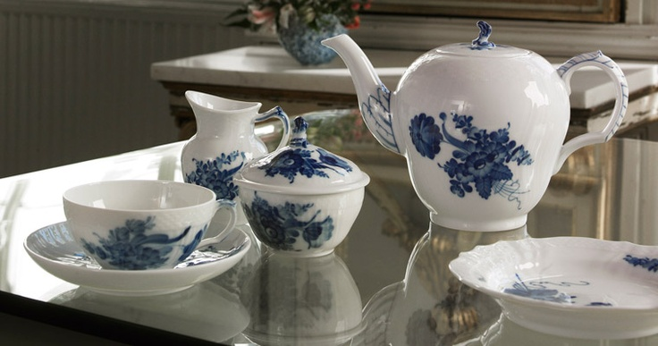 Blue Cornflower handpainted china by Royal Copenhagen