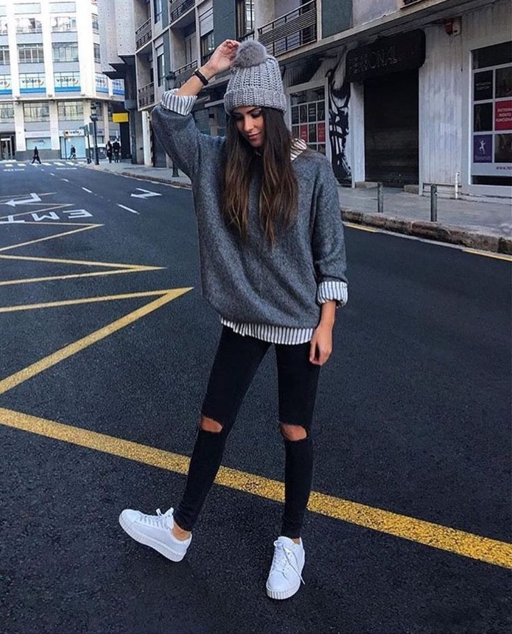 50 Amazing Sneakers Outfit Ideas For Fallwinter