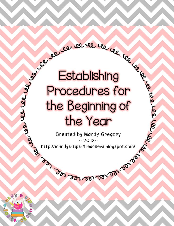 Procedures, Procedures! Amazing! Lays out what should be taught when for the first week of school.