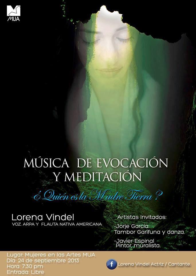 Este 24 de septiembre a las 7:30 p.m., presentación especial en MUA de Lorena Vindel (voz, arpa y flauta nativa americana) ¿Quién es la Madre Tierra? música de evocación y meditación. - Acceso gratis - Les esperamos