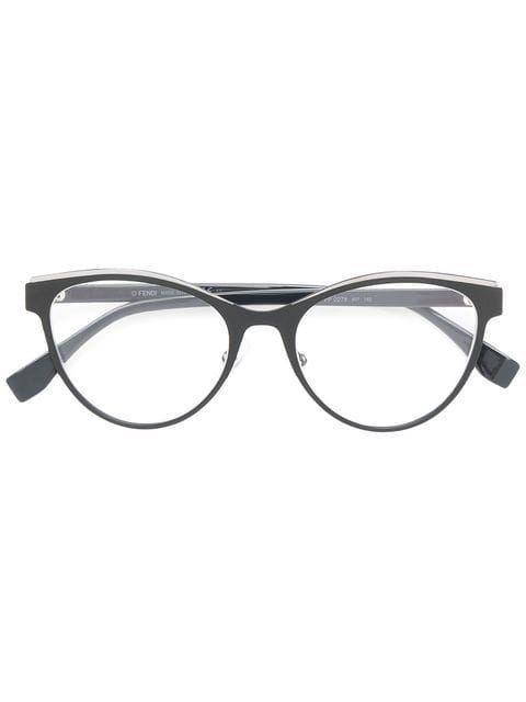 c3c1524cc5fd5 Shop Fendi Eyewear round frame glasses