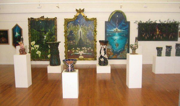 View of Gallery with some of my creative work  (Elaine Matthews Venter)