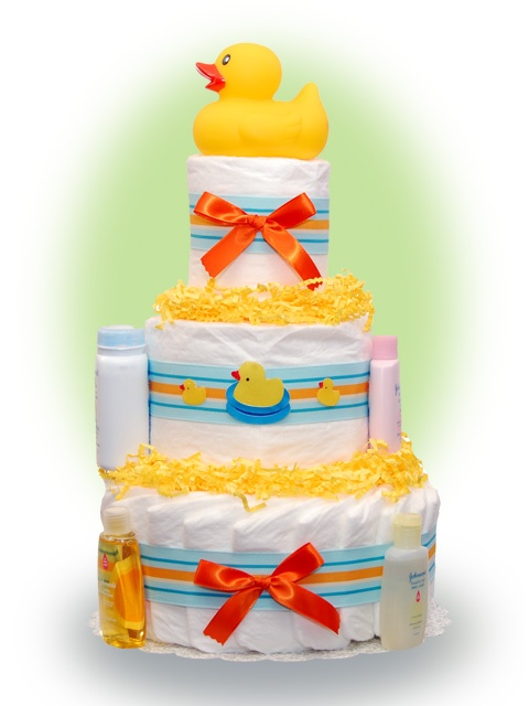 Duck Diaper Cakes For Baby Showers