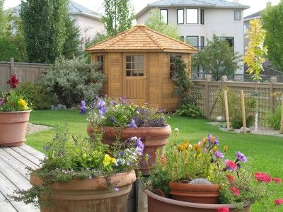 8x8 cedar Catalina shed design built in Calgary, Alberta