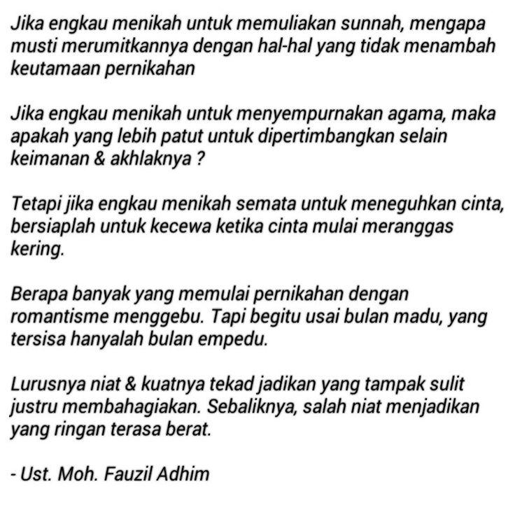 Kutipan Islam - Jodoh Pernikahan - Fauzil Adhim