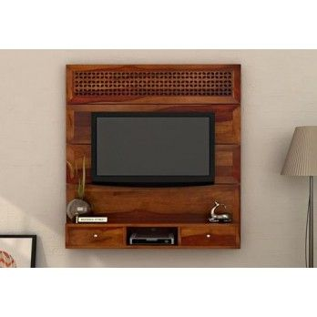 Shop #Kristen #Wall #Mount #Tv #Unit (Honey Finish) online in India with dazzling designs that looks wonderful in your home. Find a large selection of #living #room #cabinets online by shopping at Wooden Street. Visit : https://www.woodenstreet.com/living-cabinets