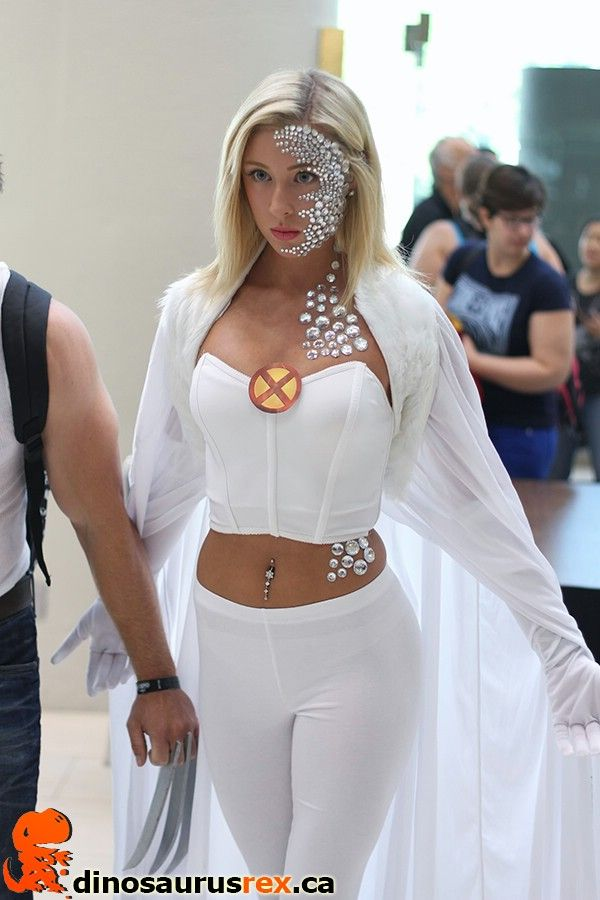 Marvel White Queen | Cosplay Costumes at Fan Expo Canada 2013 | http://www.dinosaurusrex.ca Cool idea!