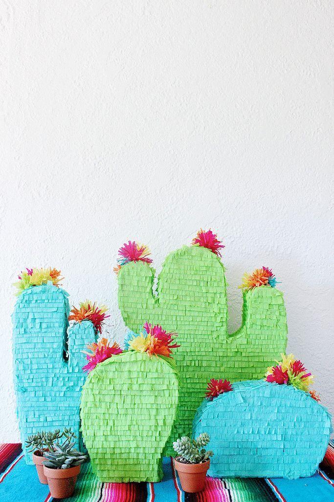 Pinjatta für Kinder Geburtstag Party Feier ideal zum Befüllen Kaktus Pinata