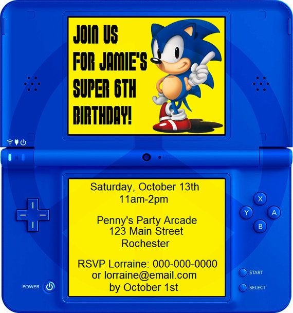 17 Best images about Sonic party – Sonic Birthday Invitations